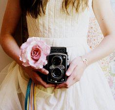 Vintage Camera & Rose! <3