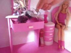 a casa da Barbie toda feita de papelão. - YouTube