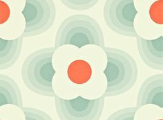 Striped Petal wallpaper by Orla Kiely