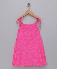 Take a look at this Pink Amazing Lace Dress - Toddler & Girls by Peace of Cake on #zulily today!