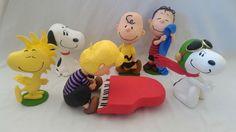Cenário Peanuts. Peças com 30cm.