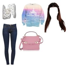 """""""High school students"""" by zendaya090 ❤ liked on Polyvore featuring Frame Denim, Keds and Henri Bendel"""