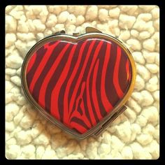 Heart Pocket Mirror Great for on the run to check and reapply makeup. Accessories