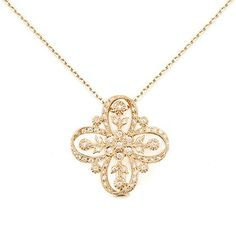 Diamond and gold necklace by AbHeri