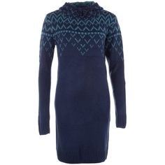 adidas Blue Womens Nordic Sweater Dress via Polyvore featuring dresses, sweater dress, nordic dress, blue sweater dress, adidas and blue dress