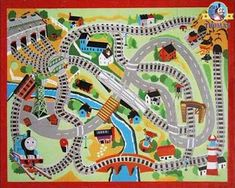 train track rug | Train Thomas the tank engine Friends free online games and toys for ...