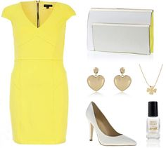 Spring wedding outfit www.tryingforsighs.com #springoutfit #weddingoutfit #yellowdress