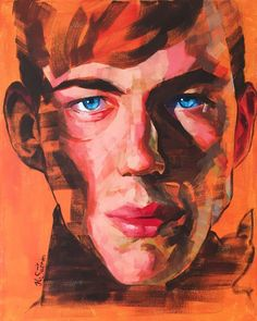"""Comic Book Villain"" oil and acrylic on canvas 40x50cm by Heikki Sivonen 2017. #art #portrait #male #model #expressive"
