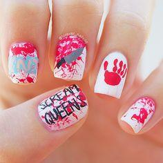 Scream Queens Nail Art #screamqueens #nails #nailart