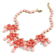 Women's J.crew Floral Cascade Necklace (920 CNY) ❤ liked on Polyvore featuring jewelry, necklaces, coral shell, j.crew necklace, sea shell jewelry, shell flower necklace, floral necklace and flower necklaces