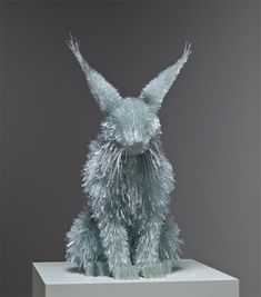 Incredible shattered glass animal sculptures