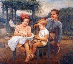 Crianças Antonio Rocco (Itália/Brasil, 1880-1944) óleo sobre tela, 110 x 124 cm PESP – Pinacoteca do Estado de São Paulo, SP