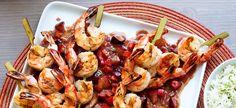 BBQ Shrimp with Plum Chutney Sauce