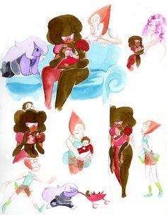 steven universe rose quartz   reason Garnet is so caring towards Steven is because when Rose Quartz ...