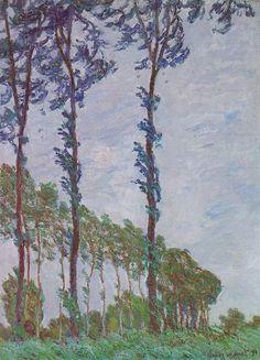 Claude Monet - Les peupliers, dans le vent