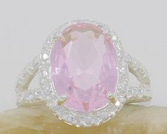 Heavenly Pink Kunzite 925 Sterling Silver Ring Size by MoodTherapy, $27.50