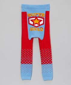 Loving this Red & Blue 'Super Hero' Leggings - Infant on #zulily! #zulilyfinds