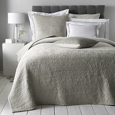 Add color & texture to your bed with handcrafted cotton quilts from The Company Store. Shop king, queen, full, and twin quilts in a variety of styles. The Company Store Bedding Shop, Linen Bedding, Bed Linens, Bedroom Bed, Bedroom Ideas, Master Bedroom, Bedroom Inspo, Design Bedroom, Dream Bedroom