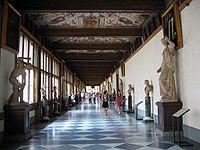 Galería Uffizi - Corredor del Este.