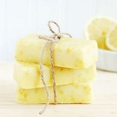 Homemade lemon soap is easy to make with only 3 ingredients required. Makes a wonderful Mother's Day gift!
