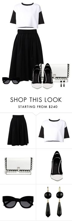 """Senza titolo #239"" by eliscrignaro ❤ liked on Polyvore featuring Brunello Cucinelli, ComeForBreakfast, Proenza Schouler, Greymer, Karen Walker and monochrome"