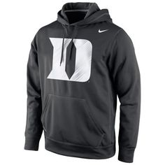 Duke Blue Devils Nike Warp Logo Therma-FIT Hoodie - Black
