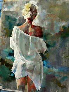 Fanny Nushka Moreaux - Art - Painting Tips Painting People, Figure Painting, Painting & Drawing, Portrait Art, Abstract Portrait, Portrait Ideas, Erotic Art, Art Oil, Figurative Art