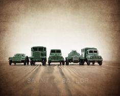 Vintage Matchbox Army Truck lineup, Photo Print, Boys Room decor, Boys Nursery Prints, Army Room Decor on Etsy, $20.00