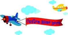 Amazon.com: Color Airplane Custom Name Wall Sticker (EMAIL US THE CUSTOM NAME AFTER PURCHASE) - Removable Decoration Wall Decal. cute wall art wall quote wall saying: Baby
