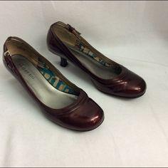 Burgundy kitten heels Shiny burgundy kitten heels. Pre-loved Madden Girl Shoes Heels