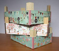 Tutorial: Como decorar cajas de fruta con papel.