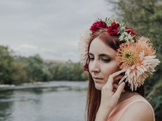 Inspiration photographie de mariage, photographie portrait, fleurs, inspiration art nouveau, haute-garonne, toulouse, rivière