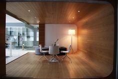 modern wooden meeting room