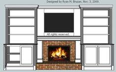 Built in bookcase with fireplace View Larger, Higher Quality Image