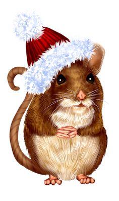 Christmas Jokes, Christmas Cup, Christmas Clipart, Christmas Animals, Christmas Pictures, Xmas, Beatrix Potter, Mouse Illustration, Pet Mice