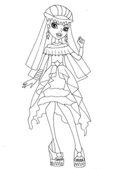 Monster high coloring pages webarella dress ~ 219 Best Coloring Pages. images in 2019   Coloring pages ...