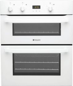 Hotpoint Built Under Programmable Cooking Double Electric Oven in White Built In Microwave, Built In Ovens, Kitchen Hob, Kitchen Appliances, Kitchens, Built Under Double Oven, Oven Cooker, Gas Oven, Gas And Electric