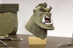 Orcs Bust Sculpt, Damien Dozias on ArtStation at https://www.artstation.com/artwork/orcs-bust-sculpt