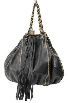 Chanel Black Leather Small Cabas Hobo Shopper Tote Tassel Bag Review Buy Now