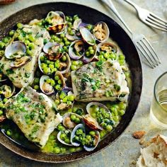 Recipe - Bacalao En Salsa Verde / Cod With Peas & Parsley