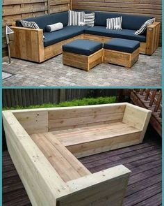 Pallet Patio Furniture, Outdoor Furniture Plans, Furniture Projects, Garden Furniture, Woodworking Projects Diy, Woodworking Furniture, Woodworking Plans, Woodworking Workshop, Home Music
