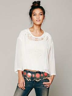Free People Lapis Metal Belt, $138.00