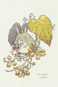 Totoro postcard ✤ cartoon from the art of Disney, Pixar, Studio Ghibli and more… Hayao Miyazaki, Fanarts Anime, Manga Anime, Anime Art, Studio Ghibli Art, Studio Ghibli Movies, Studio Ghibli Characters, Chibi, Kawaii