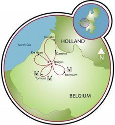 Around Romantic Bruges Map