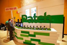 As a nod to the green color scheme and grass in Patch's logo, the producers constructed what they dubbed the...
