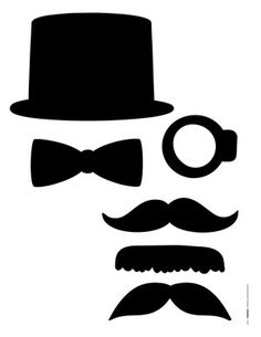 Free masculine silhouette images - for photo props... paper-crafting... as a cut file... (TIF, PDF, & JPEG files)