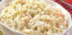 Σαλάτα κόσλοου (Coleslaw).. Μια σαλάτα με λάχανο, καρότο και μαγιονέζα! Ένα τέλειο συνοδευτικό για τα κυρίως πιάτα σας. Coleslaw, Healthy Salads, Potato Salad, Cabbage, I Am Awesome, Food And Drink, Sweets, Stuffed Peppers, Vegetables