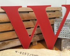 """Letter W Extra Large wooden  24"""" distressed hand painted custom capital alphabet.  Use as Guest Book for Wedding, Reception or Wedding Photo by ASimplePlaceOnMain on Etsy"""