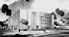 I. MAGNIN - SHERMAN OAKS:  Fashion Square, Sherman Oaks, CA,  55,000 SF, original store (pictured) opened in 1962 at same time as Fashion Square Mall.  Around 1975, IM built a new, larger store in the same mall when The Broadway was added and the mall was enclosed.