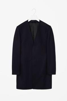 COS Collarless wool coat